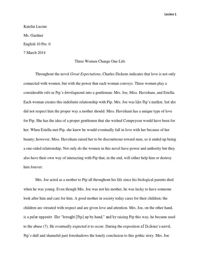 Literary analysis essay great expectations estella great