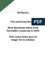 IB Physics Review