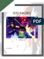 Yuyu Hakusho Rpg 4.5 + Ficha Nova
