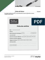 Delf Pro a1 Production Ecrite Exercice 1