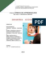 DISARTRIA ATAXICA