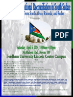 National Perspectives on Reconciiiation in South Sudan