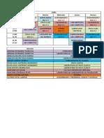Horarios Agosto - Diciembre 2012