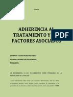 Adherencia Al Tratamiento y Los Factores Asociados