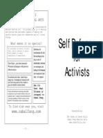 Self-Defense for Activists (Booklet Format)