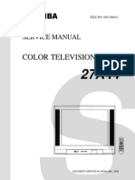 Toshiba 27a44 Service Manual