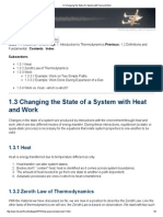 Changing the State of a System With Heat and Work