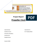 Propeller Clock Project Report