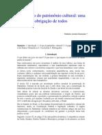 19291 Texto 40 2013 a Protecao Do Patrimonio Cultural