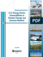 u.s. Energy Sector Vulnerabilities to Climate Change and Extreme Weather (Doe 2013)