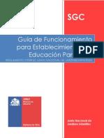 Guia de Funcionamiento Para Establecimiento de Educacion Parvularia