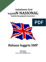 Pembahasan Soal UN Bahasa Inggris SMP 2011