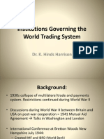 Institutions Governing the World Trading System