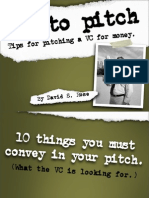 Pitching to a Venture Capitalist and Private Investor