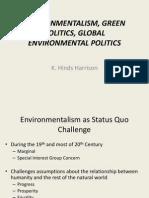 Environmentalism, Green Politics, Global Environmental Politics_2014_1