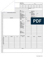 Vessel Data Sheet Process Specification Sheet Form