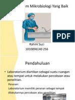 Tugas Sp Mikro Slide 1 Laboratorium Mikrobiologi Yang Baik Rahmi Suci 1010096140 256