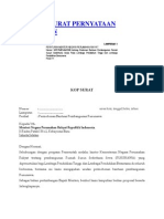 Contoh Surat Pernyataan Dukungan