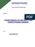 Comentarios Artigo5 CF
