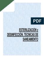 Esterilizacion y Desinfeccion