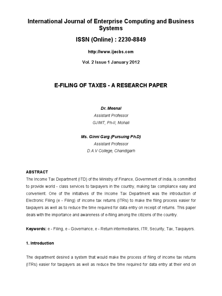Tax Research Paper | Tax Research Paper Topics Ideas