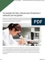 Na metade da vida, Ciência sem Fronteiras é criticado por má gestão _ Ciência e Tecnologia _ DW.DE _ 05.03.2014