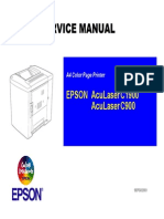 Epson AcuLaser C900 C1900 Parts and Service Manual