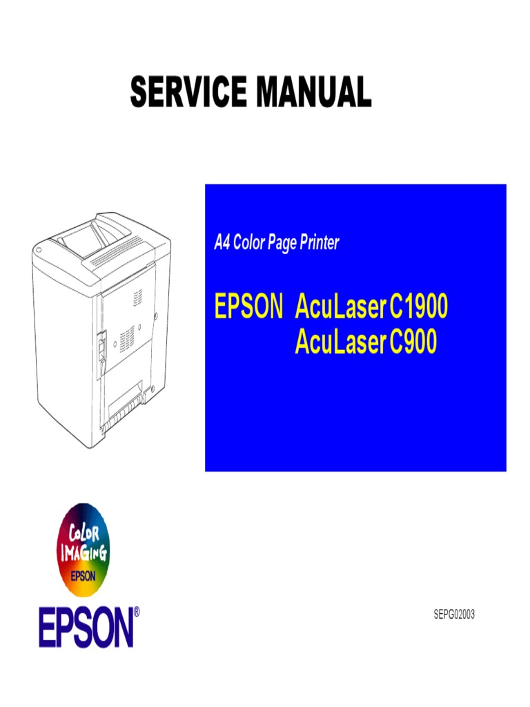 Epson AcuLaser C900 C1900 Parts and Service Manual | Printer (Computing) |  Equipment