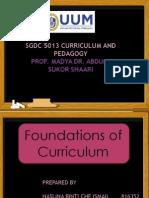 Foundations of Curriculum