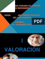 APLICACIÓN DEL PROCESO DE ATENCIÓN DE ENFERMERÍA