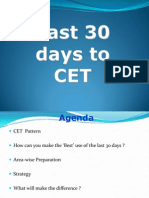 Last 30 Days to Cet 2014