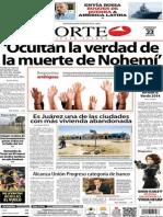 Periódico Norte de Ciudad Juárez edición impresa del 23 marzo del 2014