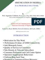 Mobile Communication in Nigeria