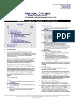 TCF Financial Criteria