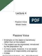 Lecture 4 Passive, Modals