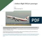 Liste Des Pasagers FltMH370