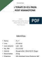 Analisa Terapi Di Icu Pada Pasien Post Kraniotomi