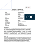 Programa Biotecnologia I-2014