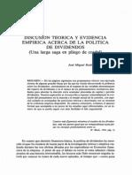 Discusión teórica y evidencia empírica acerca de la política de dividendos