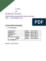 Calendar Format - 2013 -BHSM Ministry