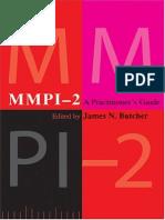James N. Butcher-Mmpi-2 A Practitioner's Guide