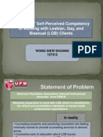 Counselor's self-perceived competency working with LGB clients