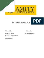 Internship Report on an NGO.