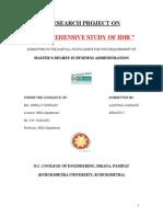 IDBI BANK PROJECT REPORT