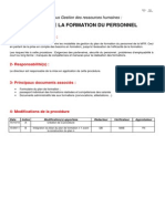1-Procedure Gestion de Formation Du Personnel 110915