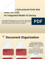 Module 4-Unit Planning From the CCSS
