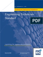 Engineering Technician Standard