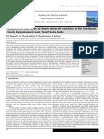 Influence of tidal cycle on heavy minerals variation in the Kottilpadu beach, Kanyakumari coast, Tamil Nadu, India