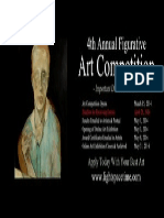 4th Annual Figurative 2014 Online Art Competition - Event Poster