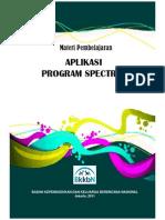 Buku Materi Pembelajaran Aplikasi Program Spectrum